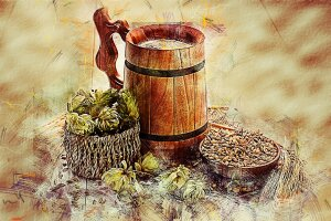 Bier-Produktion