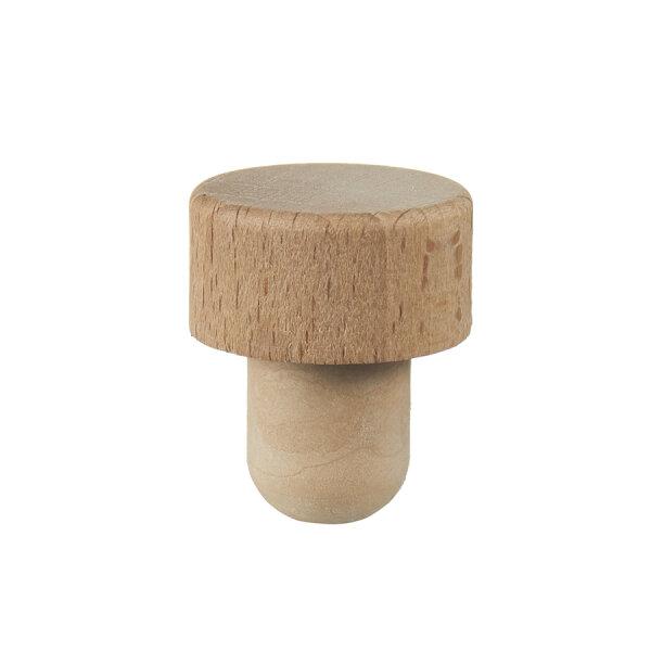 Griffkork Holz klein Co-Injected Ø 17 mm