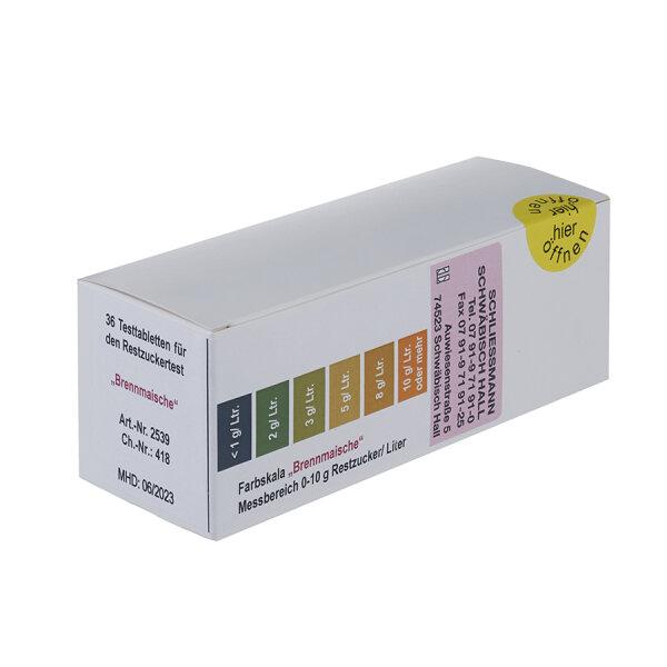 Ersatztabletten für Clinitest Brennmaische 0-10g/L (36 Stk.)